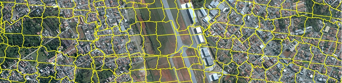 Image: Orthophoto with cut lines between frames